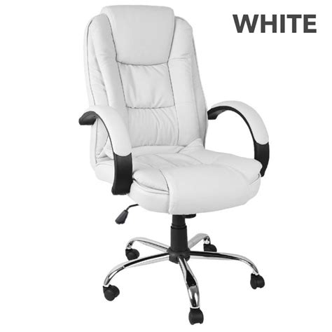 white executive desk chair executive pu leather modern high back office chairs buy