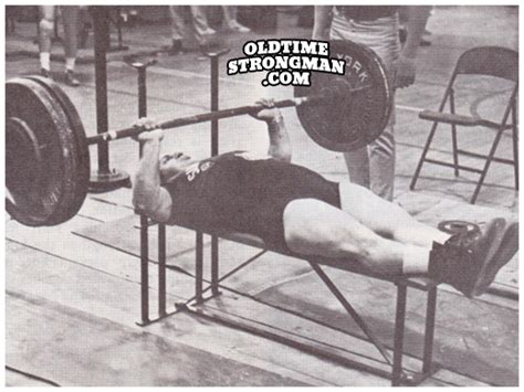 dave taylor bench press 1963 aau senior nationals archives www oldtimestrongman com