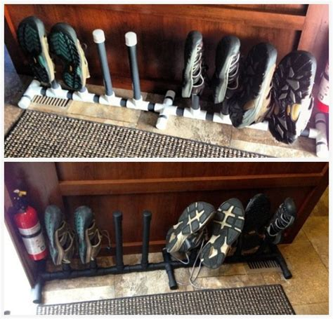 rv shoe storage 25 rv shoe rack from pvc keep things tidy around the