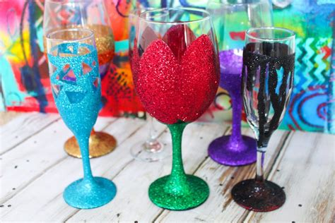 Water Glitter Stand Iphonesamsungxiaomioppo how to make diy glitter wine glasses project ideas kit kraft