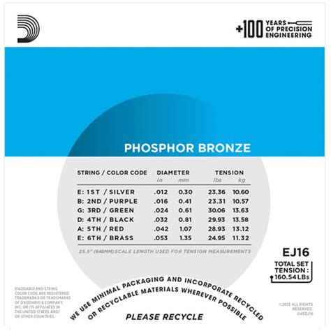 d addario d addario ej16 phosphor bronze light 12 53 at gear4music