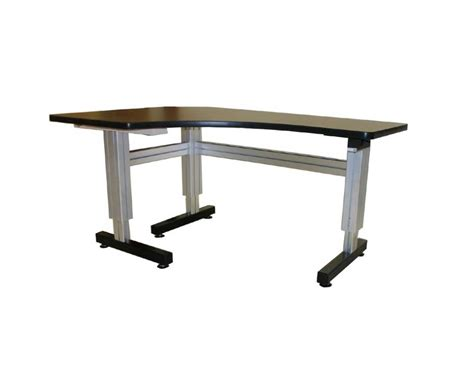 manual height adjustable desk ergonomic corner desk