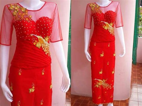 Baju Claudy Blouse 107 best images about myanmar dress oneset design on