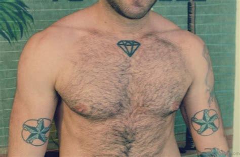 diamond tattoo in chest 74 marvelous diamond tattoos on chest