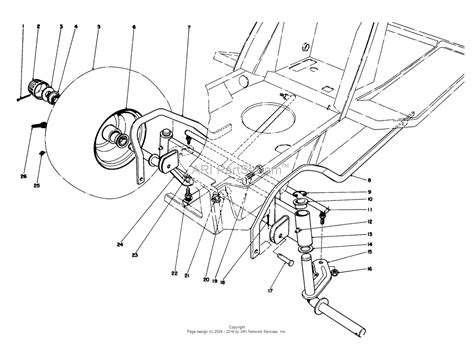 assembly diagram toro 57356 11 42 lawn tractor 1979 sn 9000001 9999999
