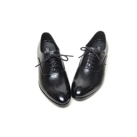 s plain toe leather lacing increase height high