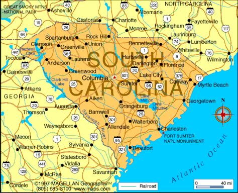 map of of carolina atlas south carolina