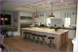 playful large kitchen island with bar seating