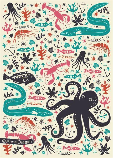 design pattern for zoo sea patrol by anna deegan via behance fun zoo pattern