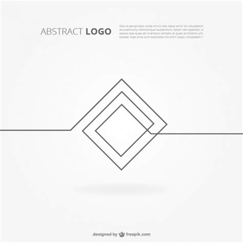 Modern Art Deco Architecture abstract logo background vector free download