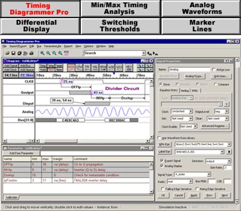 timing diagram editor timing diagrammer pro timing diagram software syncad