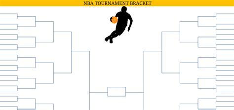 printable blank  nba playoffs bracket
