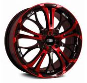 HD&174 SPINOUT Wheels  Gloss Black With Red Face Rims