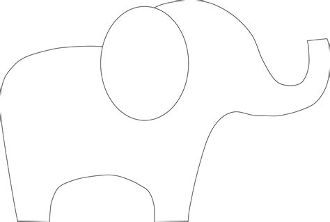 elephant cut out template baby elephant outline pictures to pin on pinsdaddy