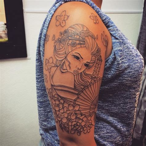geisha tattoo represent 70 colorful japanese geisha tattoos meanings and