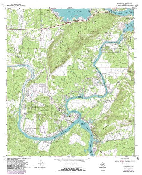map of kingsland texas kingsland topographic map tx usgs topo 30098f4