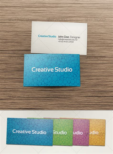 template 2 sided card sided business card graphicriver