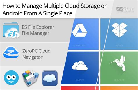 cloud storage for android how to manage files on cloud storage services on android aw