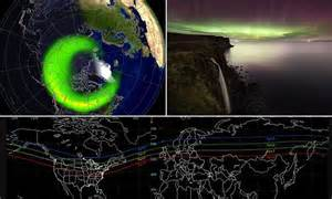 solar northern lights tonight science technology news and pictures daily mail