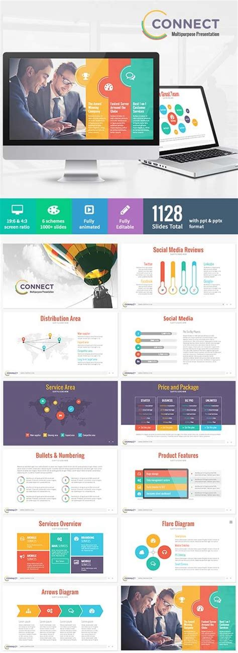powerpoint templates graphicriver connect modern