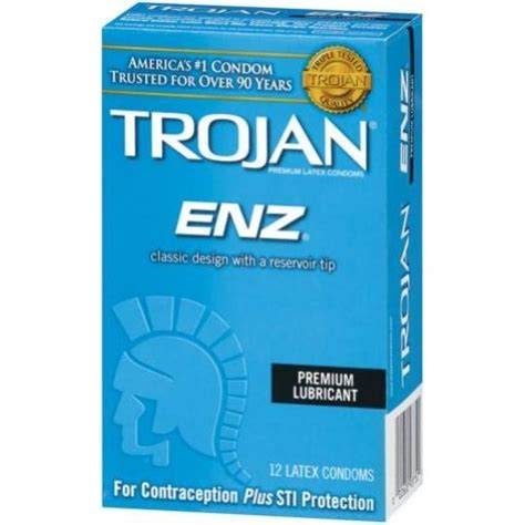 trojan enz comfort trojan enz comfort trojan enz lubricated condoms 3 count