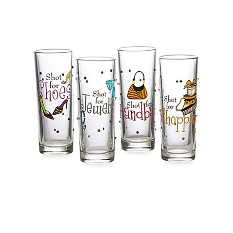bed bath and beyond glasses girly novelty shot glasses set of 4 bed bath beyond