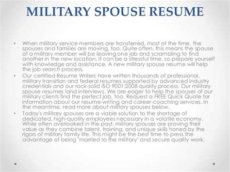 Example Of Military Resume military resumes
