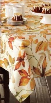 thanksgiving tablecloths tablecloth croft barrow watercolor leaves fall fabric