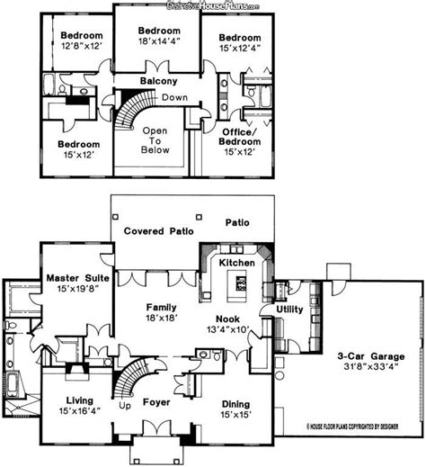 5 Bed 3 5 Bath 2 Story House Plan Turn 18 X14 4 Quot Bedroom House Plans 2 Story Family Room