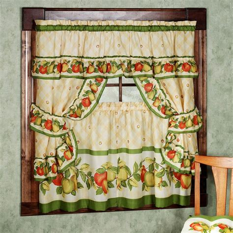 ideas vintage kitchen curtains decorating with vintage