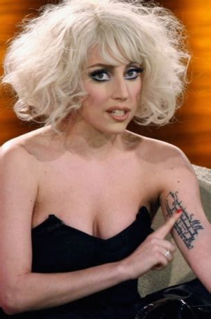 lady gaga wrist tattoo gaga tattoos only on left side arm tattoomagz