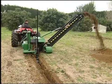 world s largest trencher trenchit tct drainage chain trencher youtube