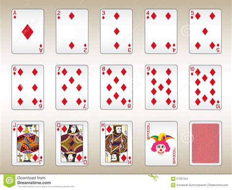 Card Blank Template King Of Diamonds by Diamonds Cards Set Stock Vector Image Of