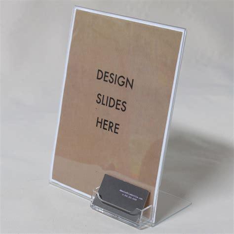 Acrylic Holder Table Brochure Single Pocket Leaflet Portrait plastic brochure holders with business card best