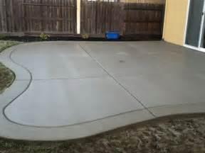 poured concrete patio designs poured concrete patio designs curved back yard patio