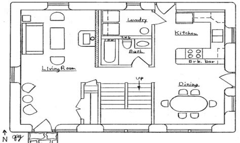 Simple Bungalow Floor Plans by Simple Small House Floor Plans Cottage Floor Plan Small