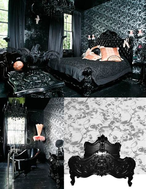 punk home decor gothic wallpaper home decorating