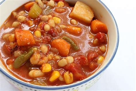 vegetarian bean recipes cooker cooker chunky bean vegetable soup