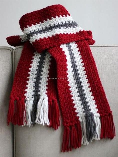 ideas for crochet scarf patterns upcycle