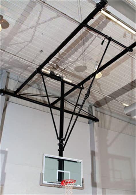 ceiling mounted basketball hoops courtsports inc gymnasium equipment basketball