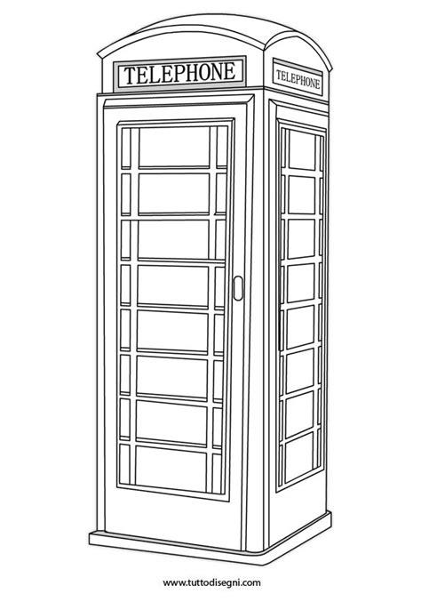 cabine telefoniche inglesi cabina telefonica inglese da colorare tuttodisegni