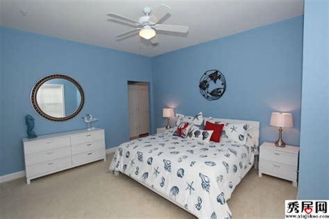 Blue Bedroom Decorating Ideas 6款经典12平米地中海风格卧室装修效果图 地中海卧室墙面颜色灯具装饰图片 6 秀居网