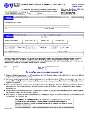 claim form claim form blue cross blue shield
