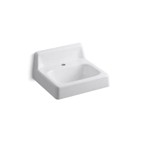 Home Depot Bathroom Sink by Whitehaus Collection Wall Mounted Bathroom Sink In White Wh1 103l The Home Depot