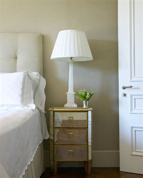 Mirrored Home Decor Mirror Nightstand Transitional Bedroom