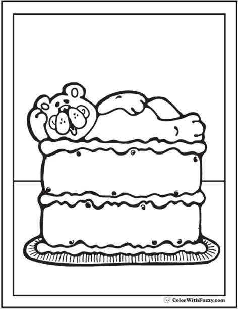 cake coloring pages pdf 20 cake coloring pages customize pdf printables