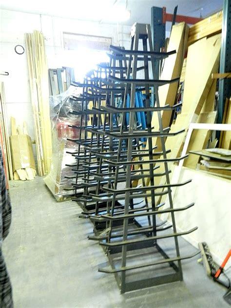 gallery print storage rack used framing equipment