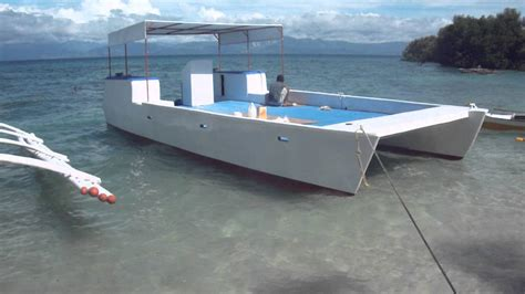 boat with no swim platform dive boat or work platform built of fibrglass youtube
