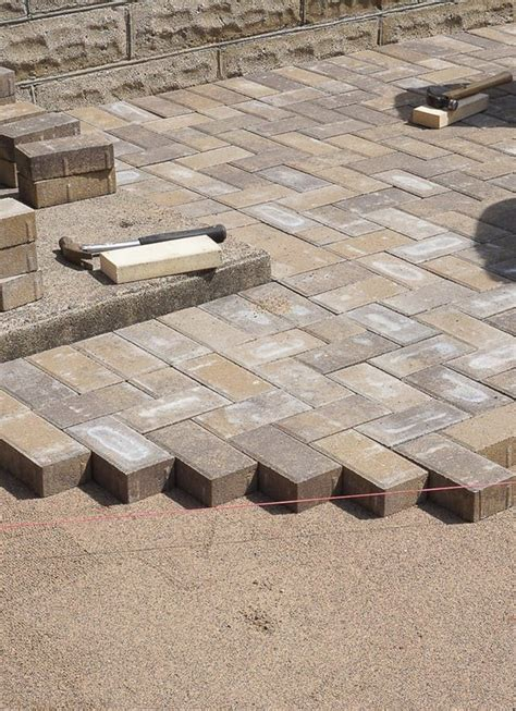 Laying Paver Patio Best 25 Concrete Patio Cost Ideas On Cost Of Concrete Driveway Concrete Cost Per