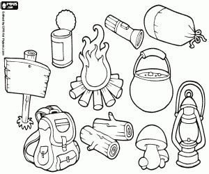 Wilderness camping coloring pages printable games